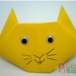 Membuat Origami Berbentuk Kucing