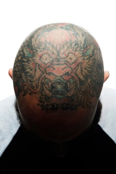 """It's about having something cool that nobody can take from you,"" said tattoo artist Ed Learner with Seattle Tattoo Emporium during the Seattle Tattoo Expo August 14, 2015 at the Fisher Pavilion in Seattle Center. Learner got his first tattoo when he was 12 years old. (Daniel Berman, Special to seattlepi.com)"