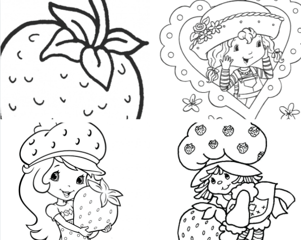 Free Downloads Strawberry Shortcake Coloring Pages for kids