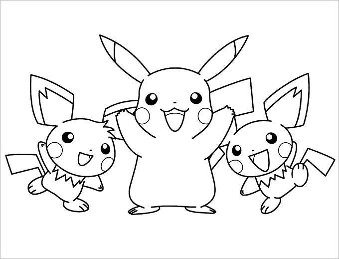 Collection Coloriage Pokemon Pikachu