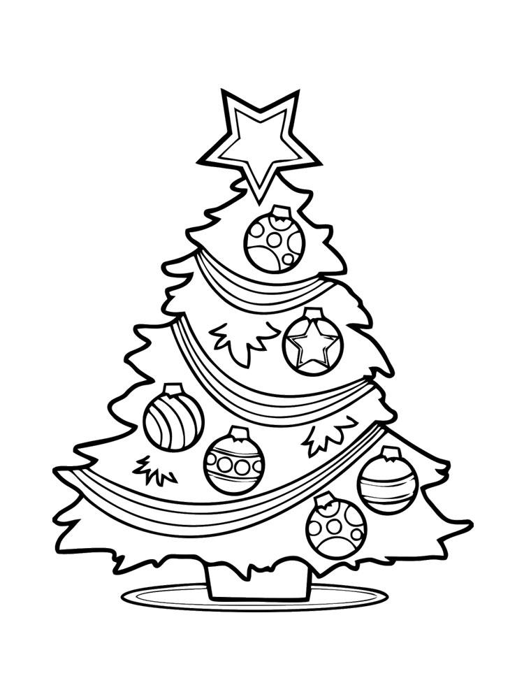 Coloriage Sapin De Noel Vierge