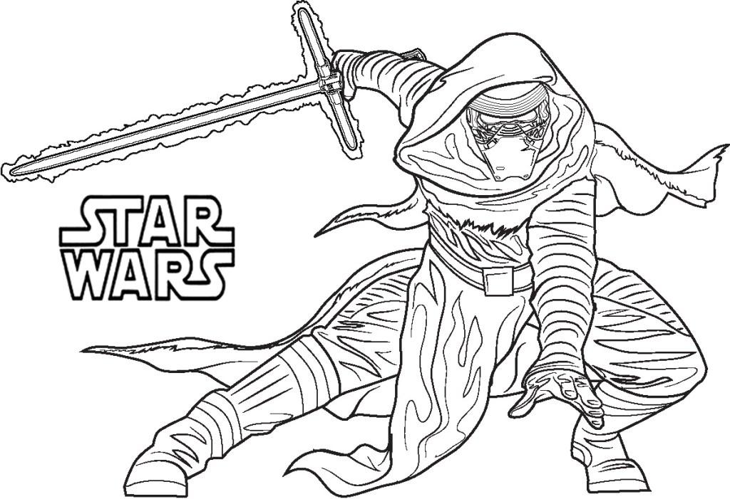 Coloriage Star Wars Jedi