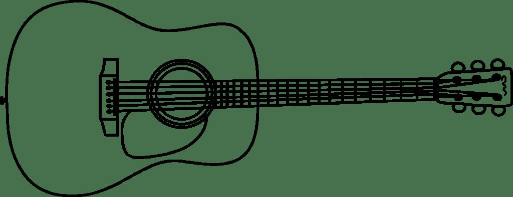 Dessin De Guitare En Couleur
