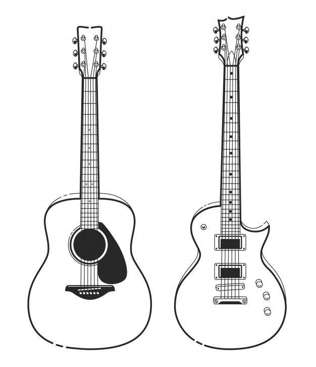 Guitare Dessin Couleur