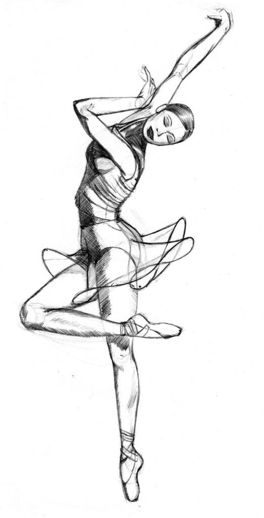 Ballerine Danseuse Classique Dessin