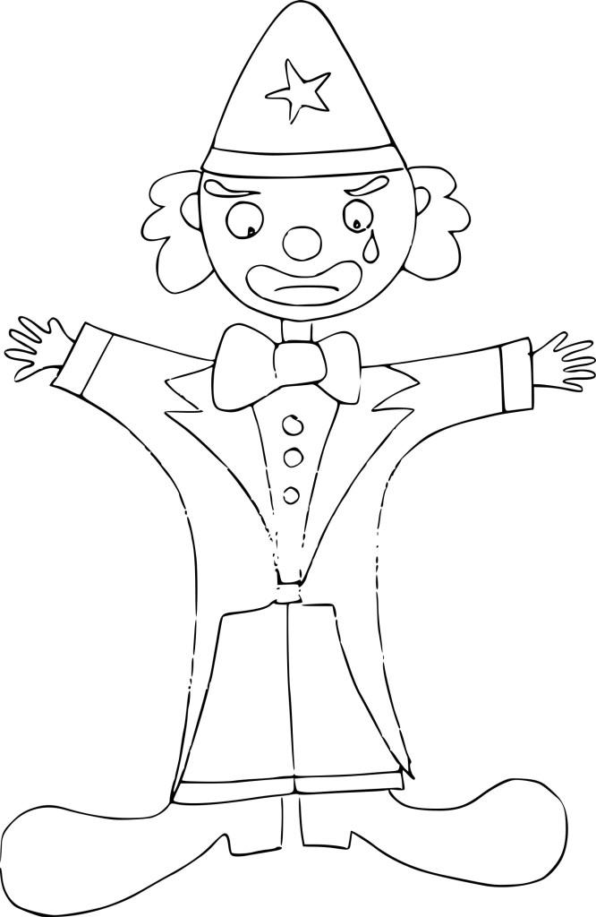 Coloriage Clown Mechant
