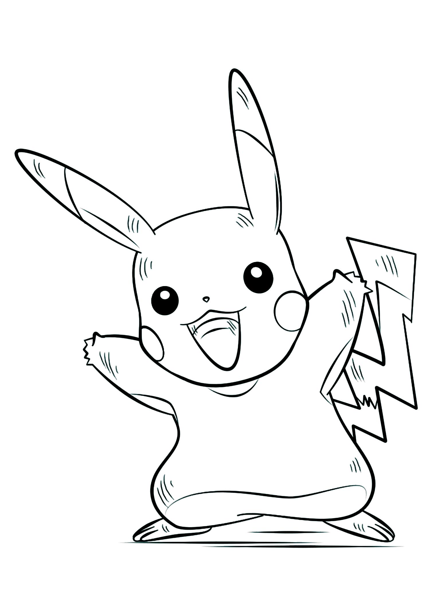 Dessin De Pikachu À Imprimer