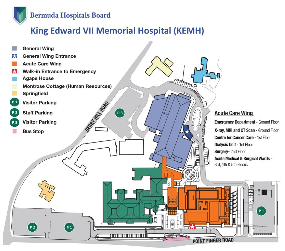 medium resolution of king edward vii memorial hospital site map