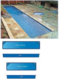 size of lap pool lap pool range harvest pools fibreglass