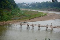 Another temporary bamboo bridge