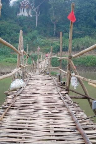 On the bamboo bridge