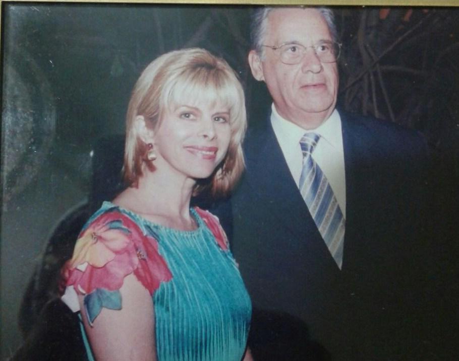 Bernadete Alves com Fernando Henrique Cardoso, então Presidente da República