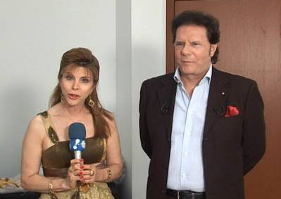 Bernadete Alves com o cantor italiano Luciano Bruno
