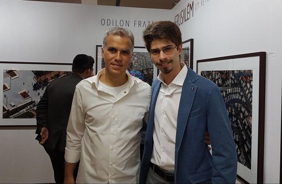 Odilon Frazão com Gilbert Di Angellis