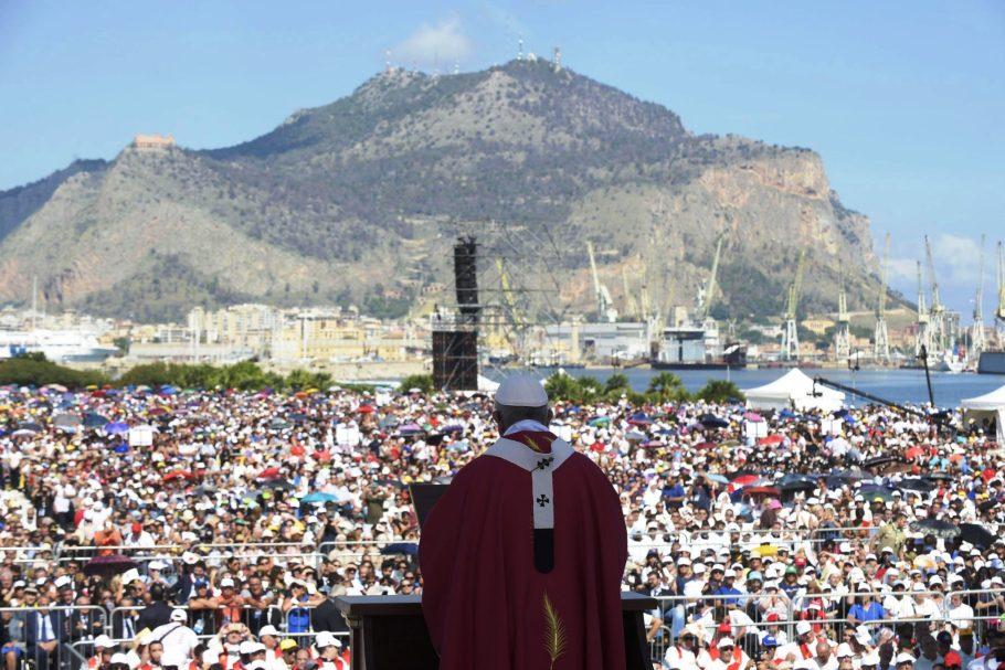Papa Francisco em Palermo, Sicília, Itália