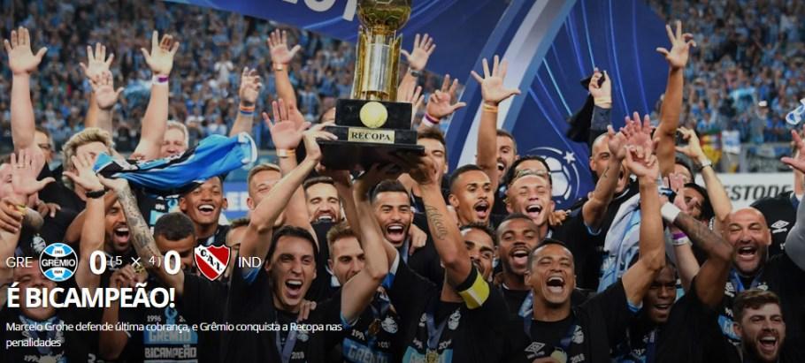 Grêmio Bi da Recopa