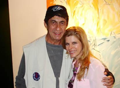 O cantor Fagner e Bernadete Alves