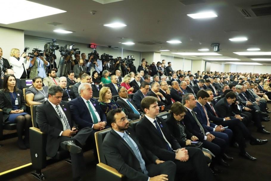 Autoridades dos Três Poderes na posse de José Múcio na presidência do TCU
