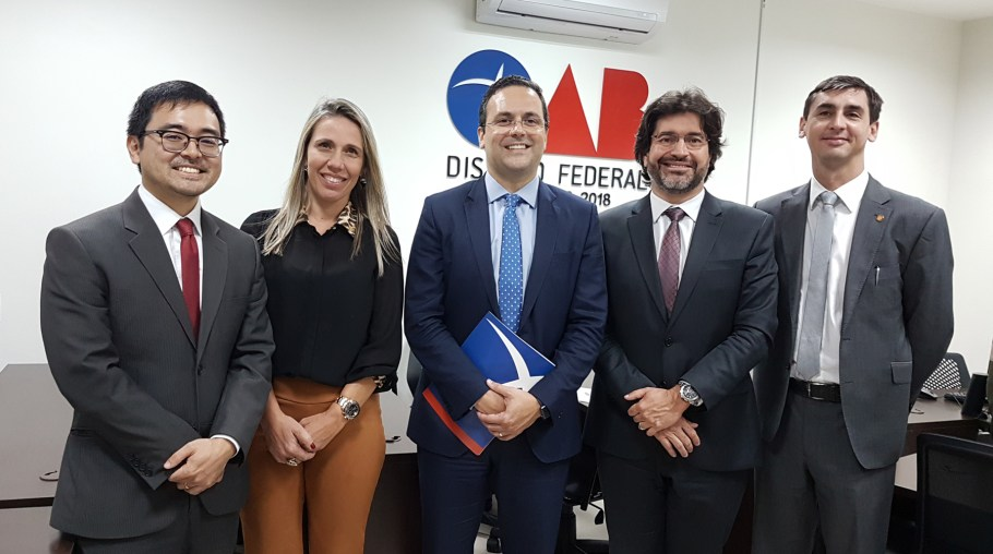 Ricardo Taba, Milena Brand, André Luiz, Victório Abritta e Luiz Gabriel de Andrade