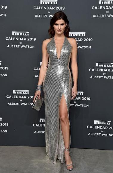 Isabelli Fontana na festa do Calendário Pirelli 2019