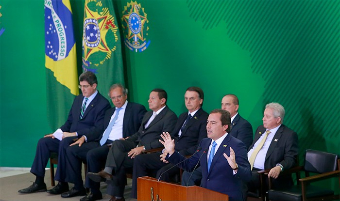 Posse presidentes do Bndes, BB e Caixa