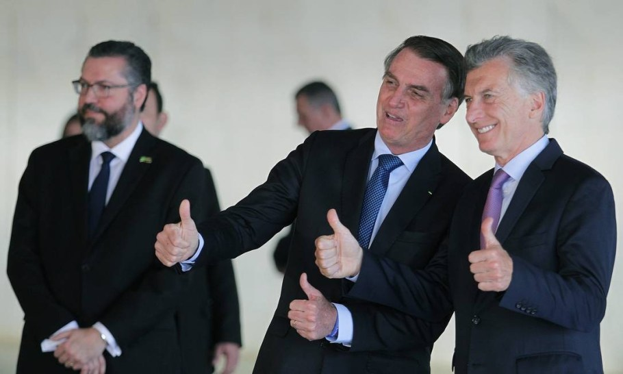 Bolsonaro recebe Macri -bernadetealves.com