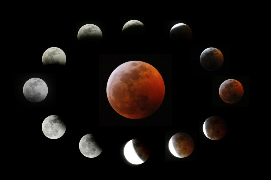 Eclipse total com Lua de Sangue - bernadetealves.com