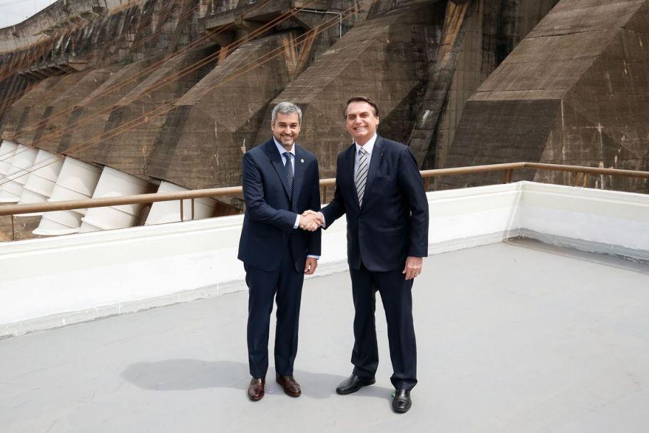 Presidente do Paraguai, Mário Abdo Benitez com o presidente Jair Bolsonaro