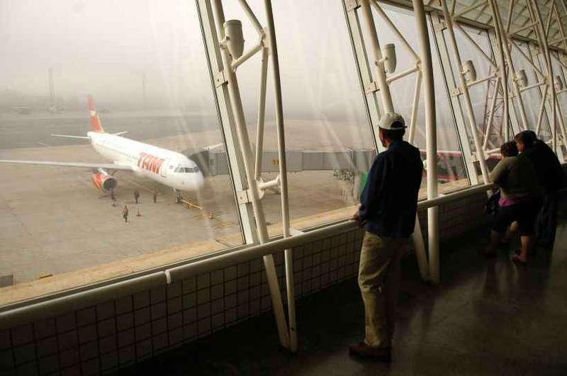 Brasília com cara de inverno - Aeroporto JK - Bernadete Alves