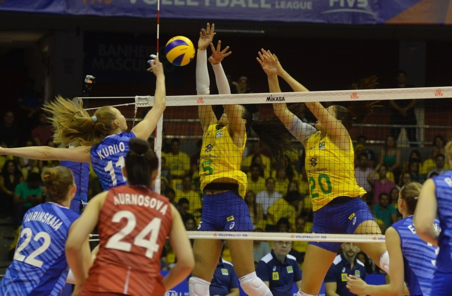 Brasil - Liga das Nações Feminina 2019 - etapa brasília - Rússia - Bernadete Alves