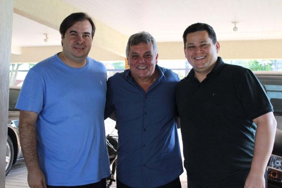 Aniversário Alberto Fraga - Deputado Rodrigo Maia e Senador David Alcolumbre - Bernadete Alves