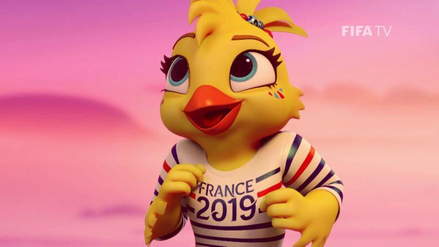 Mascote Ettie da Copa do Mundo França 2019
