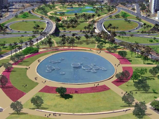 Paisagismo de Burle Marx  -  Eixo Monumental - Brasília - Bernadete Alves