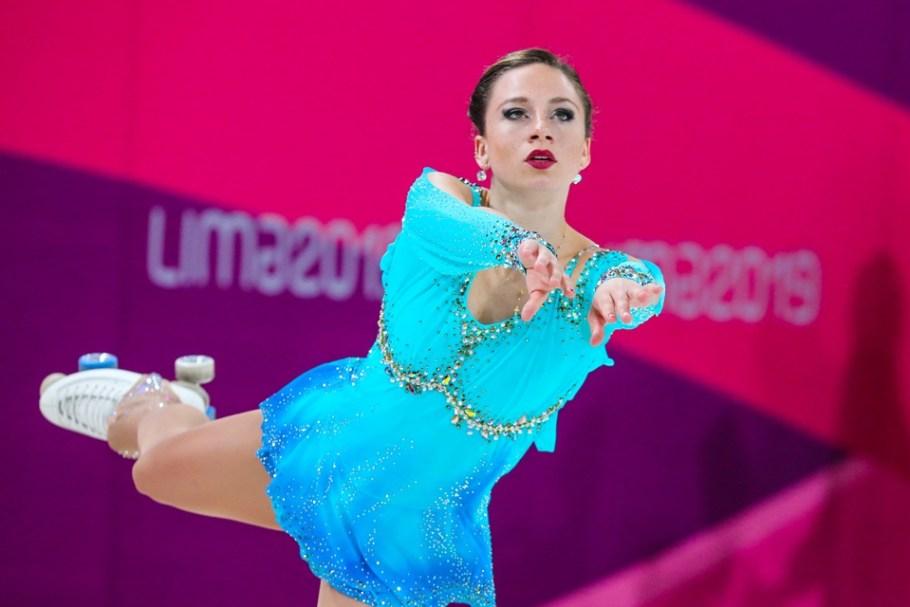Bruna Wurts dá 1º Ouro ao Brasil no Pan 2019 na patinação artística - Bernadete Alves