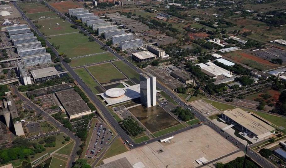 Praça dos Três Poderes - vista aérea - Jardim das Palmeiras - Bernadete Alves
