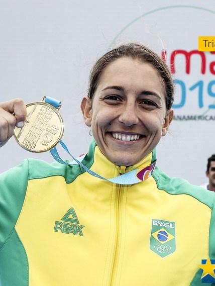 Luisa Baptista, Ouro no Triatlo feminino no Pan 2019