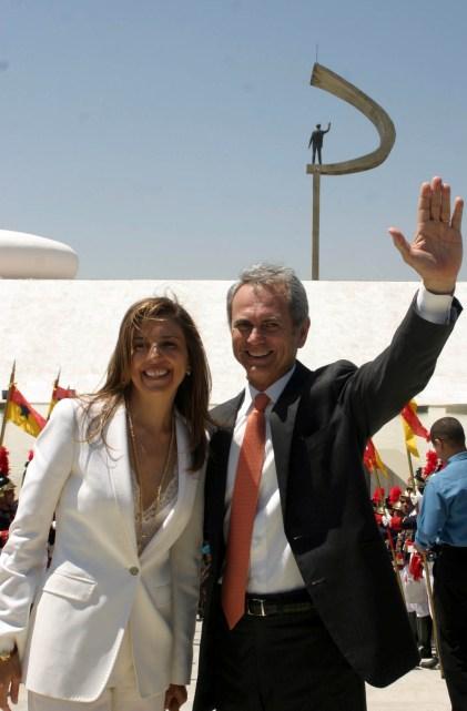 Anna Christina Kubitschek Pereira com o marido Paulo Octávio Pereira