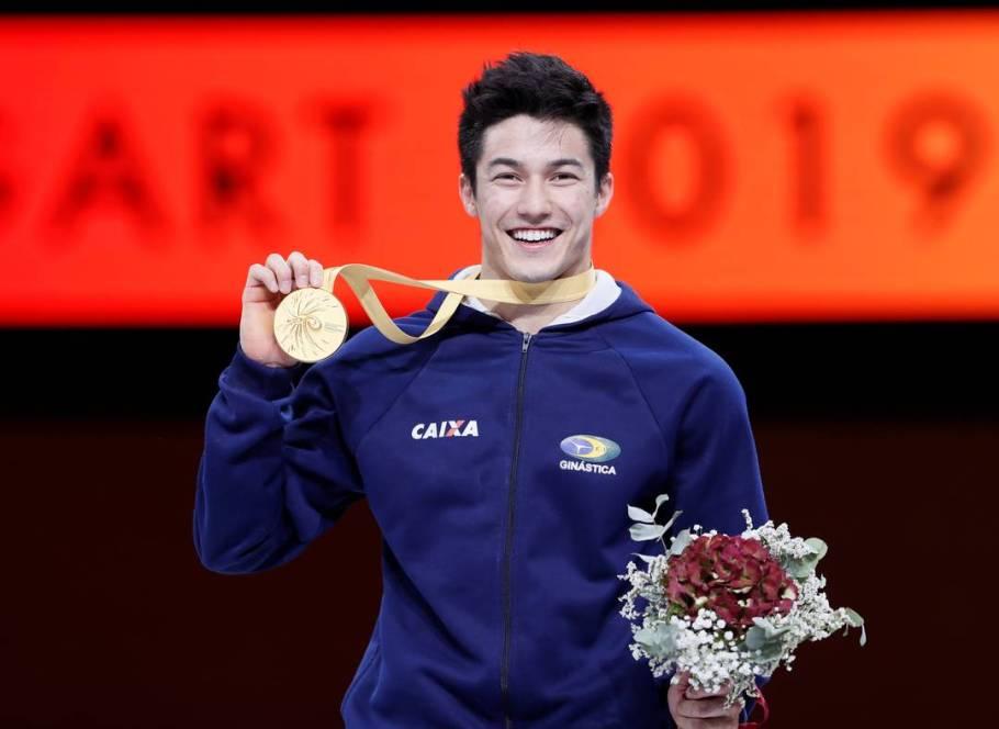 Arthur Nory é campeão mundial de ginástica artística- Bernadete Alves