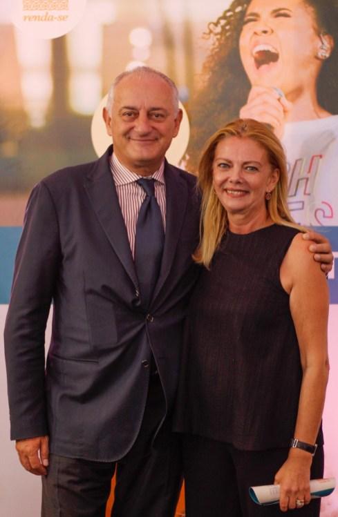 Embaixador da Itália Antônio Bernardini e a esposa Ornela