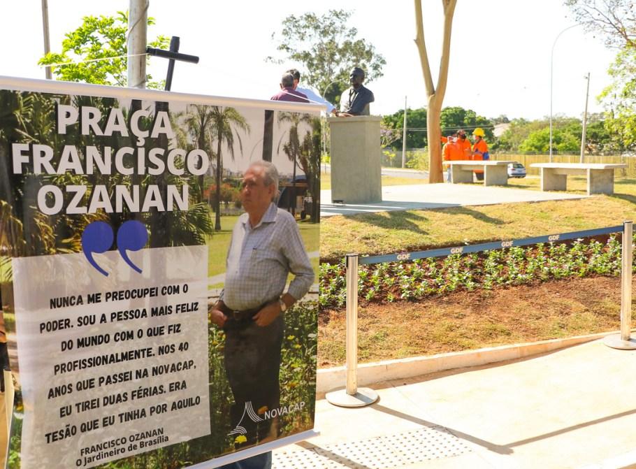 """GDF homenageia """"Jardineiro de Brasília"""" com uma praça - Bernadete Alves"""