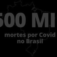 Brasil atinge a terrível marca de 500 mil óbitos por Covid-19
