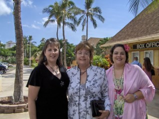 Bernadette with her daughters, Michelle and Suzette