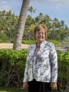 Bernadette in Hawaii at Charlie's wedding