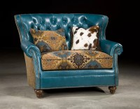 Turquoise Leather Chair - Chairs Model
