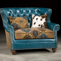 Turquoise Chairs Leather Chair Cover Rental Penang Tufted And A Half Upholstered Accent