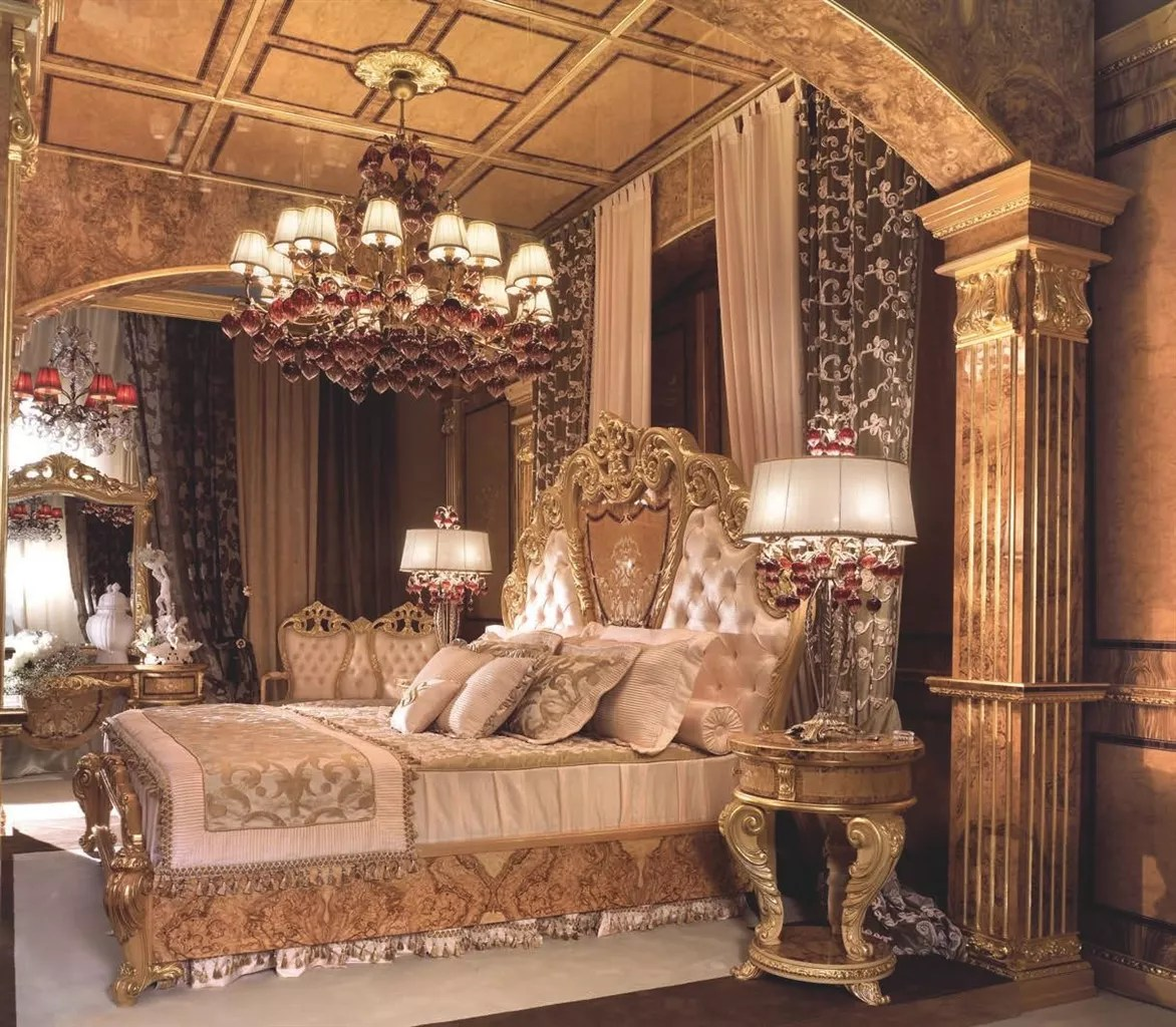 Stunning master bedroom from our modern day palace collection