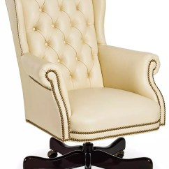 Ivory Leather Office Chair Childrens Table And Chairs Wood