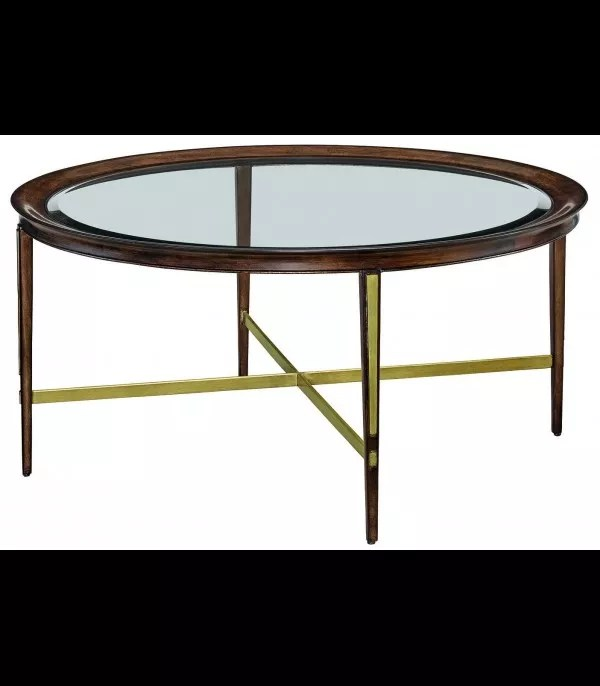 round glass coffee table from our modern dakota collection