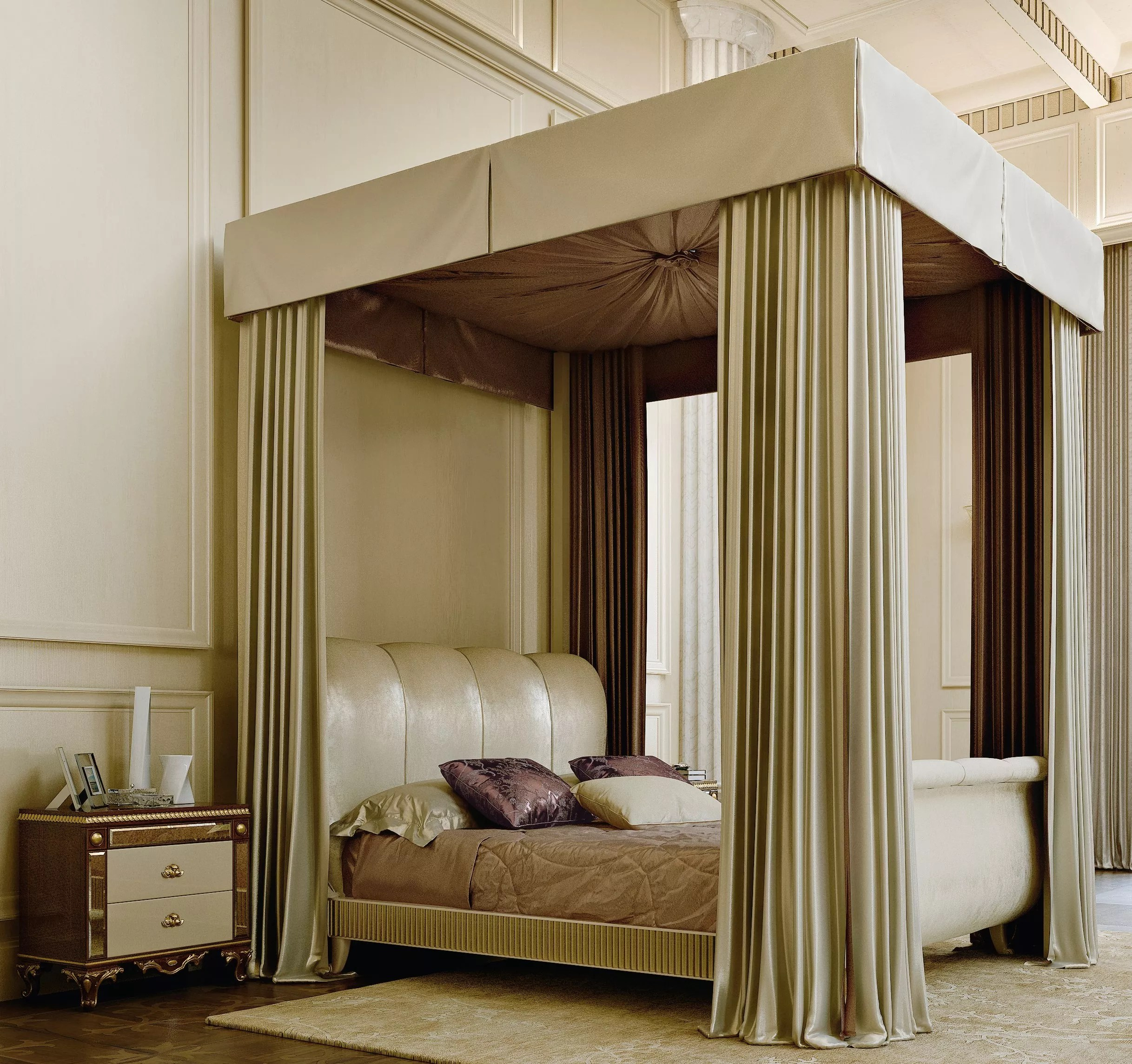 Luxurious Canopy Beds Amp Etf517 Four Poster Bed With Canopy