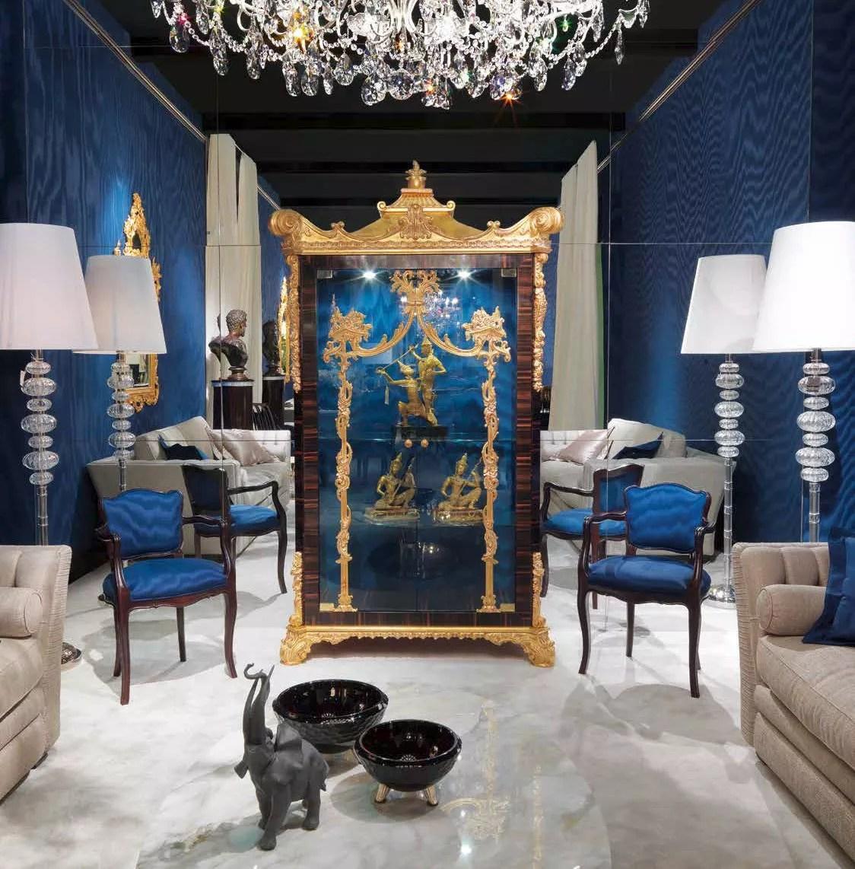 High End Ultramarine Living Room Furniture Set